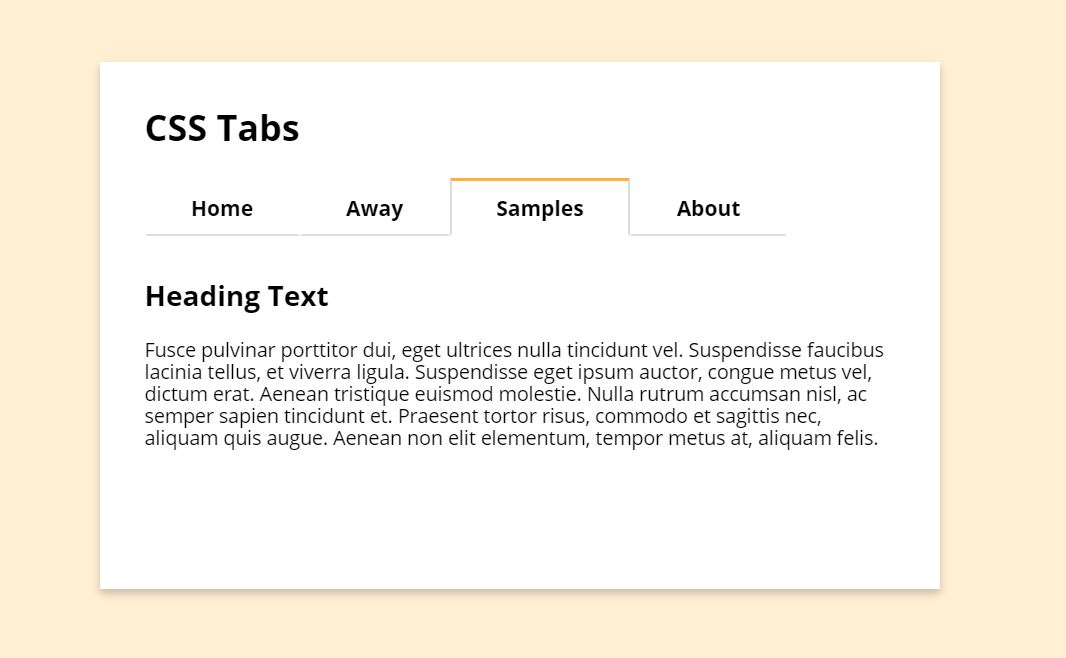 Clean CSS Tabs with Radio Type