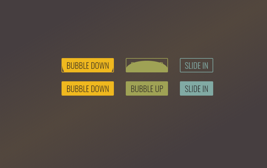 CSS Buttons Transitions Interface Example