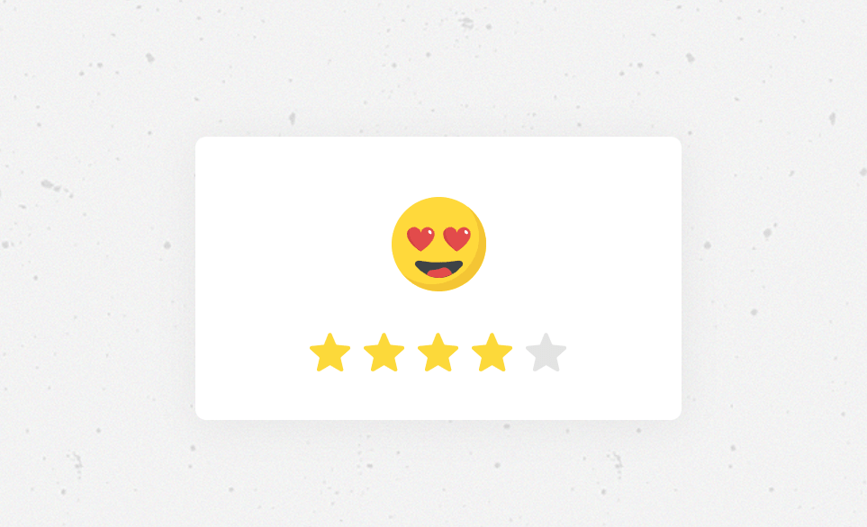 CSS Five Star Rating With Animation Effect