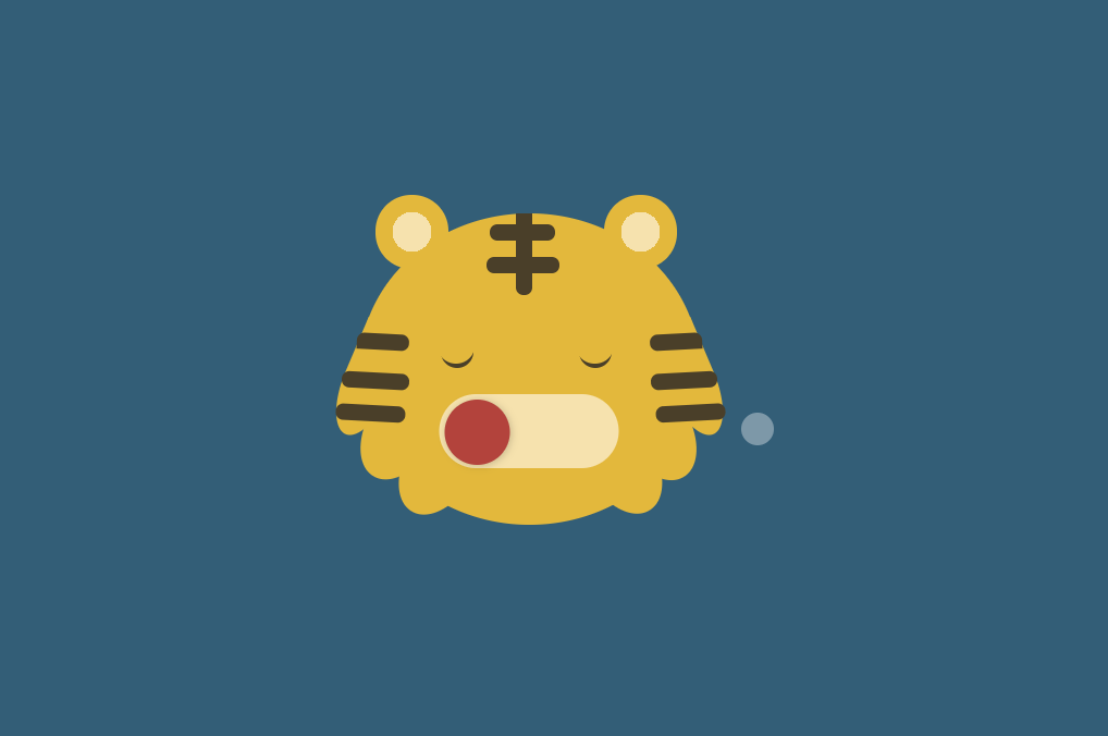 CSS And HTML Tiger Toggle Switch Example