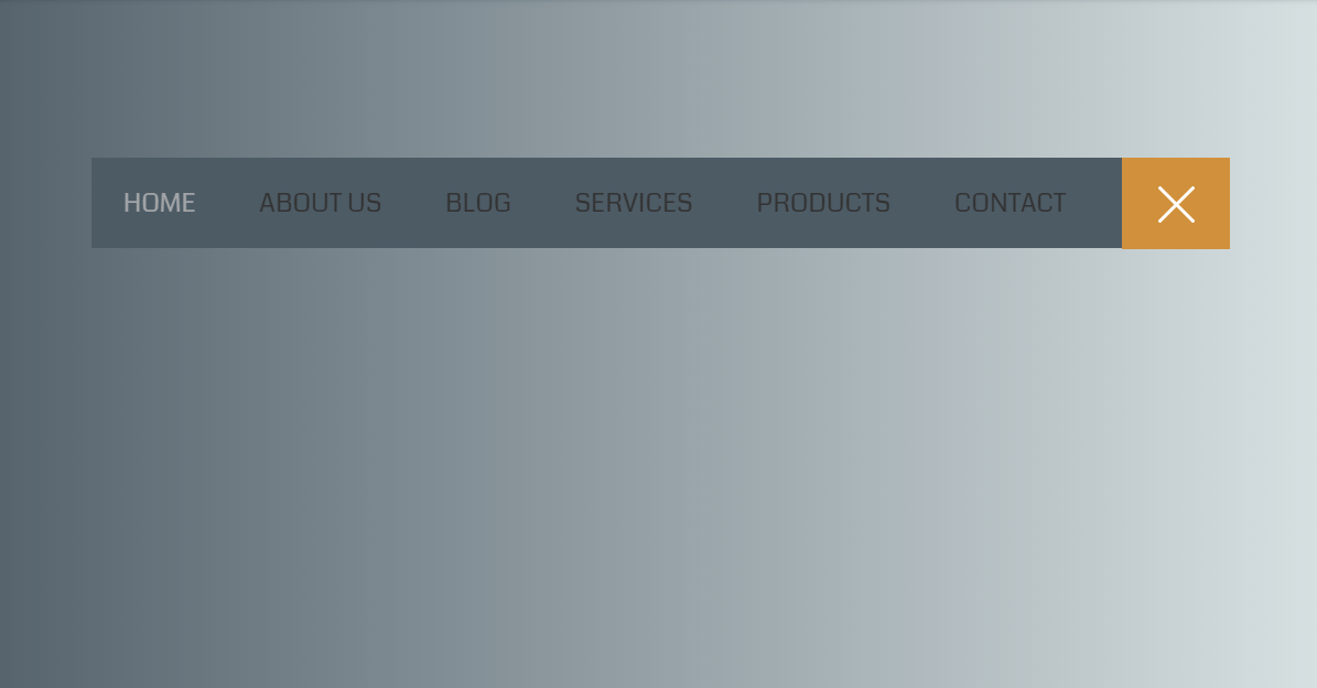 CSS Menu Toggle Button Creative Design With Flat Menu