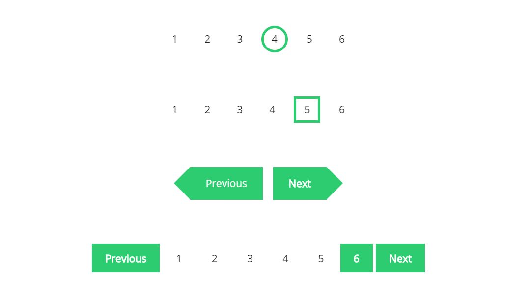 Different CSS Pagination Ideas