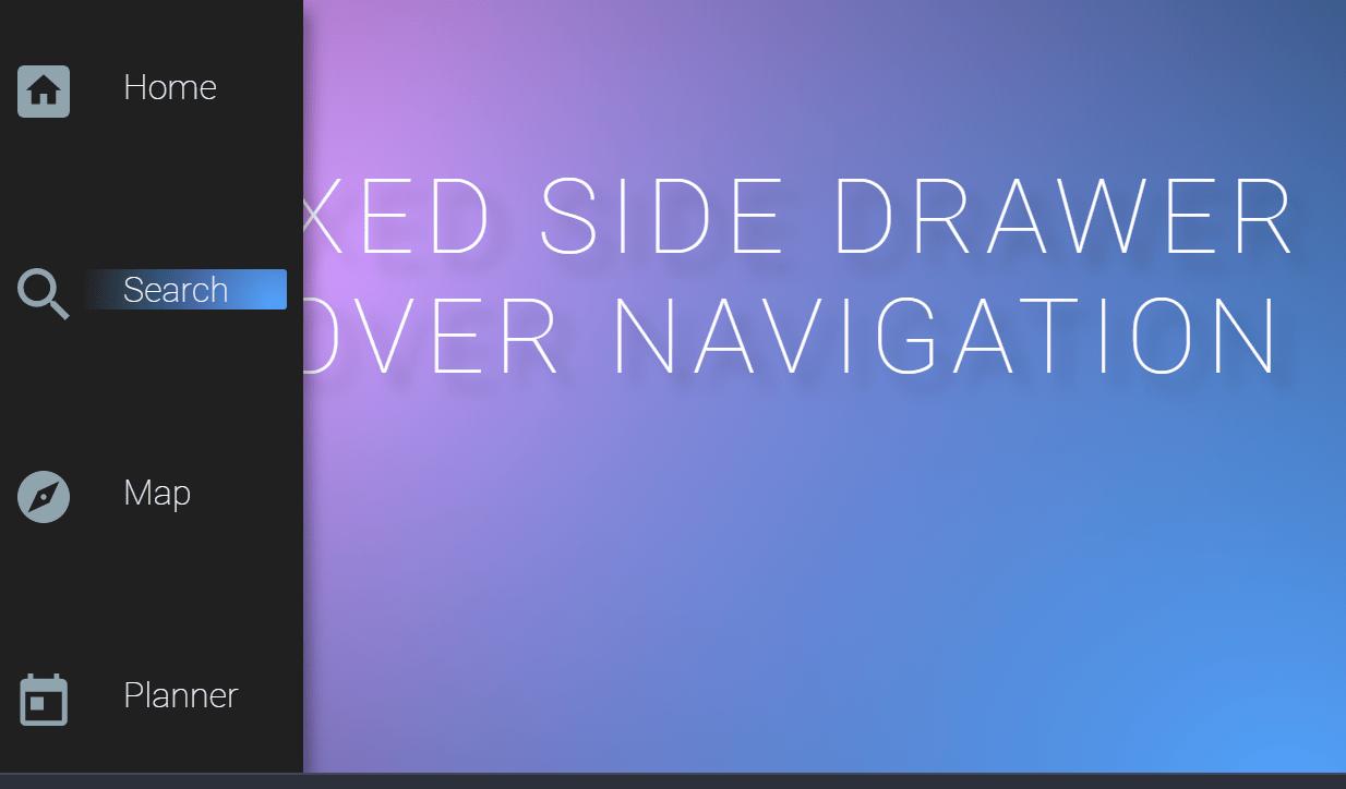 Fixed Left Side Drawer Hover CSS Navigation Menu