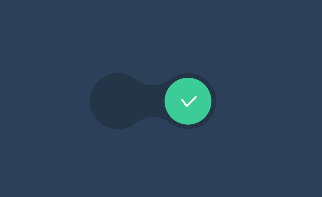 Gooey Toggle Switch Checkbox CSS Only Animation Effect