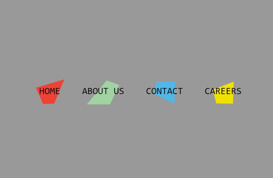 HTML CSS Horizontal Clip Path Menu Concept