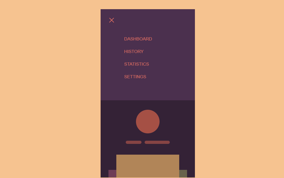 HTML CSS Mobile Menu with Animation Effect
