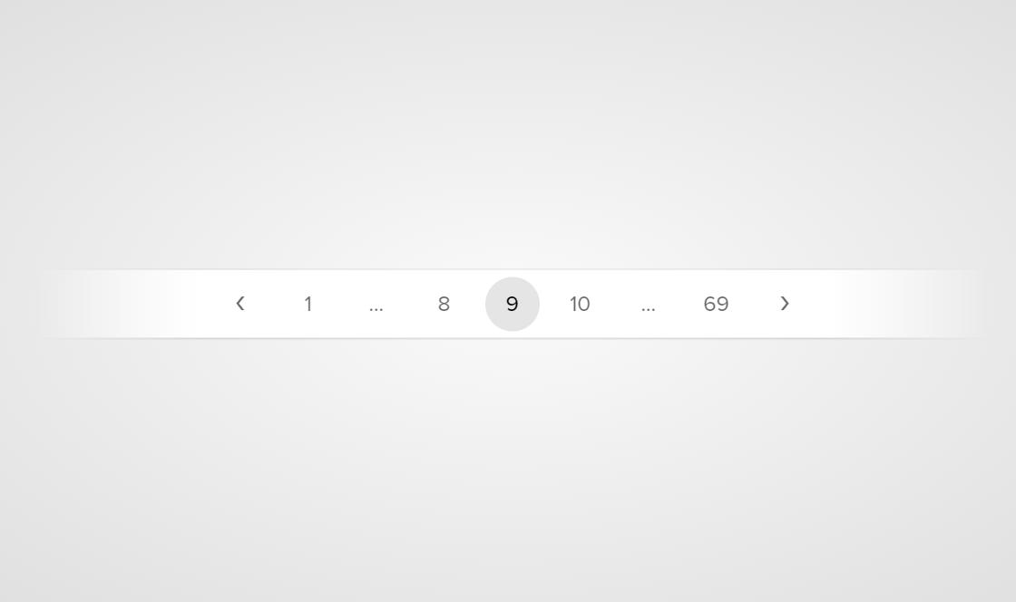 HTML CSS Paging Beautiful Design