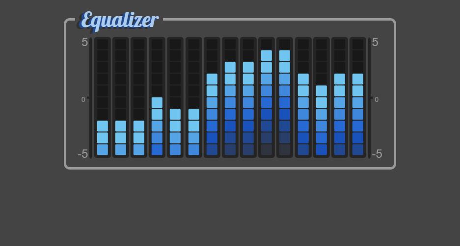HTML5 Equalizer Styling Input Range Element
