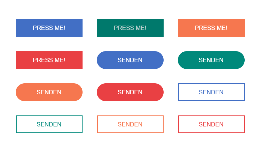 Material Design Canvas Buttons CSS Click Animation