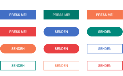 Material Design Canvas Buttons JS Click Animation