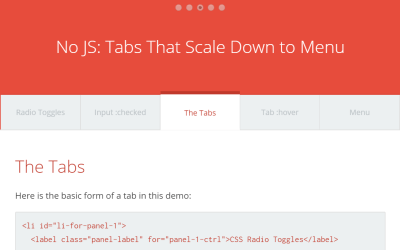 Modern Tab to Menu Layout without JavaScript