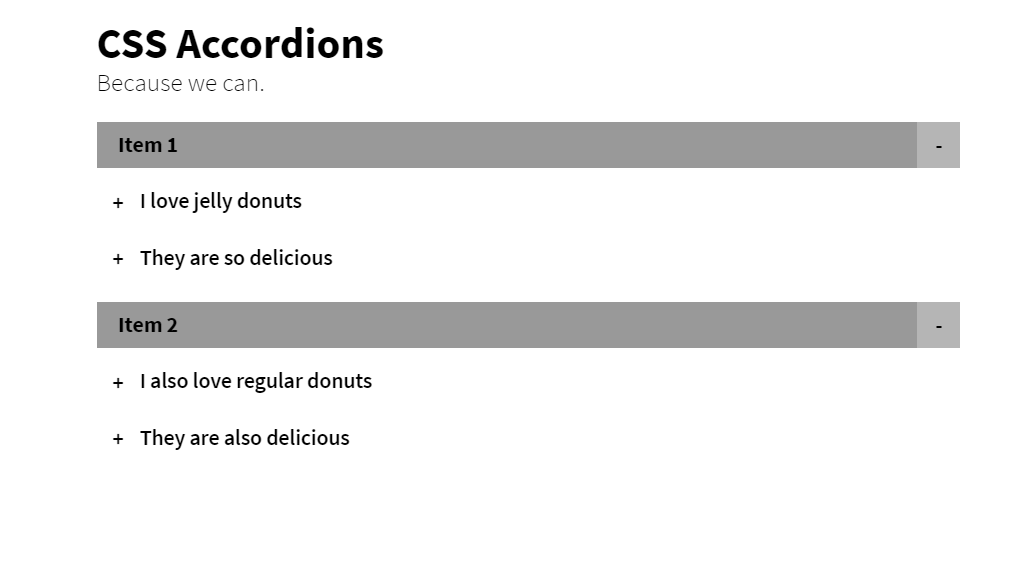 Pure CSS Multi-Level Accordion For Web Project