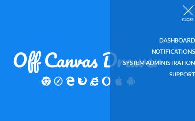 Pure CSS Slide Menu Drawer For Modern Web App