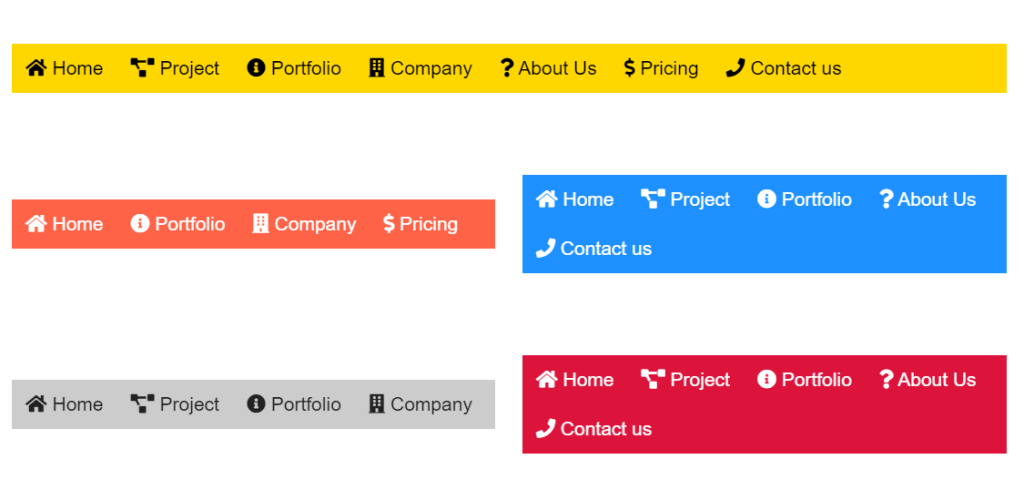 Pure CSS3 Horizontal Nested Dropdown Navigation Menu