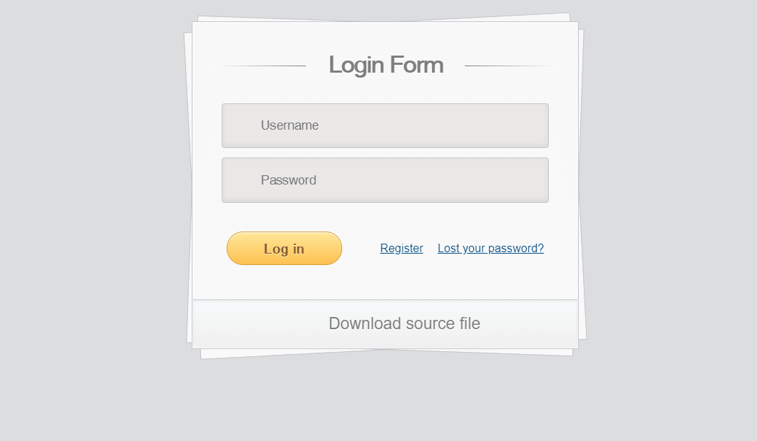 Pure CSS3 Login Form Code Snippet