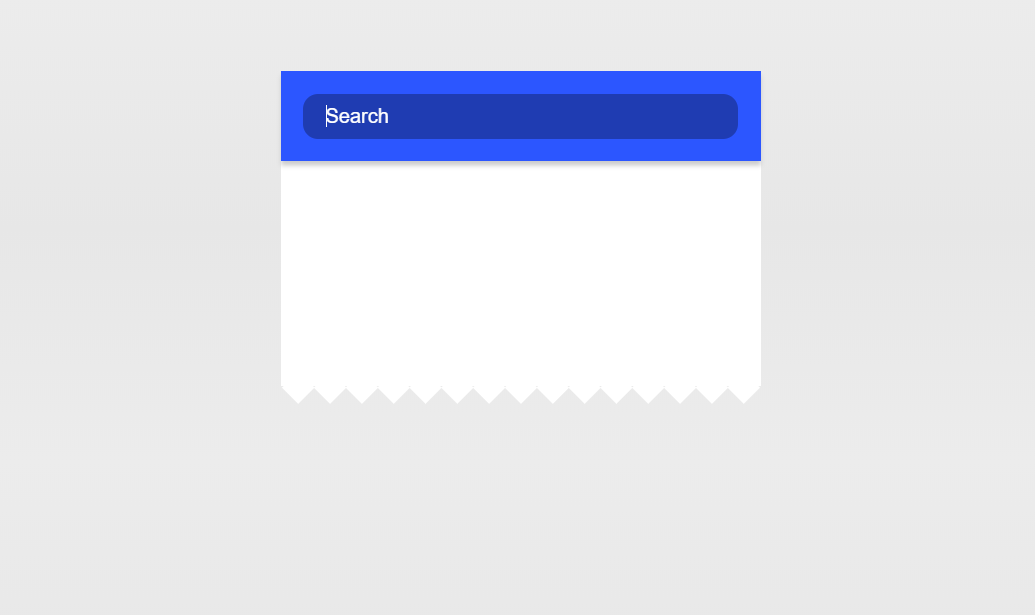 Pure CSS3 Search Form Material Design Interaction