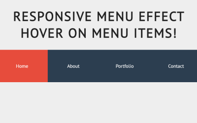 Responsive CSS3 Slide Menu Item Hover Effect