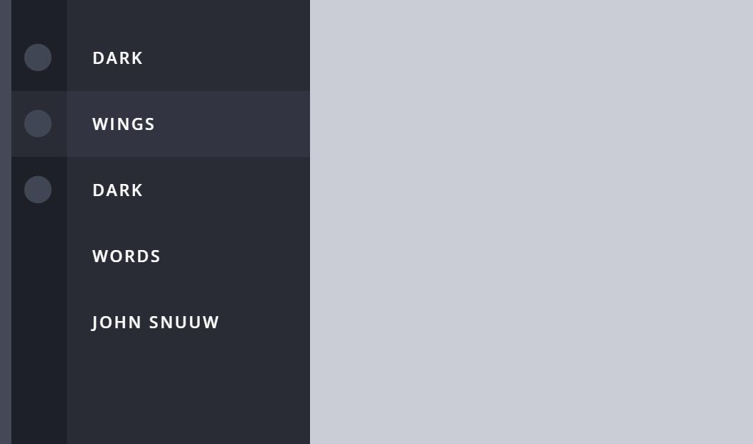 Sidebar Navigation Animated CSS Menu Snippet