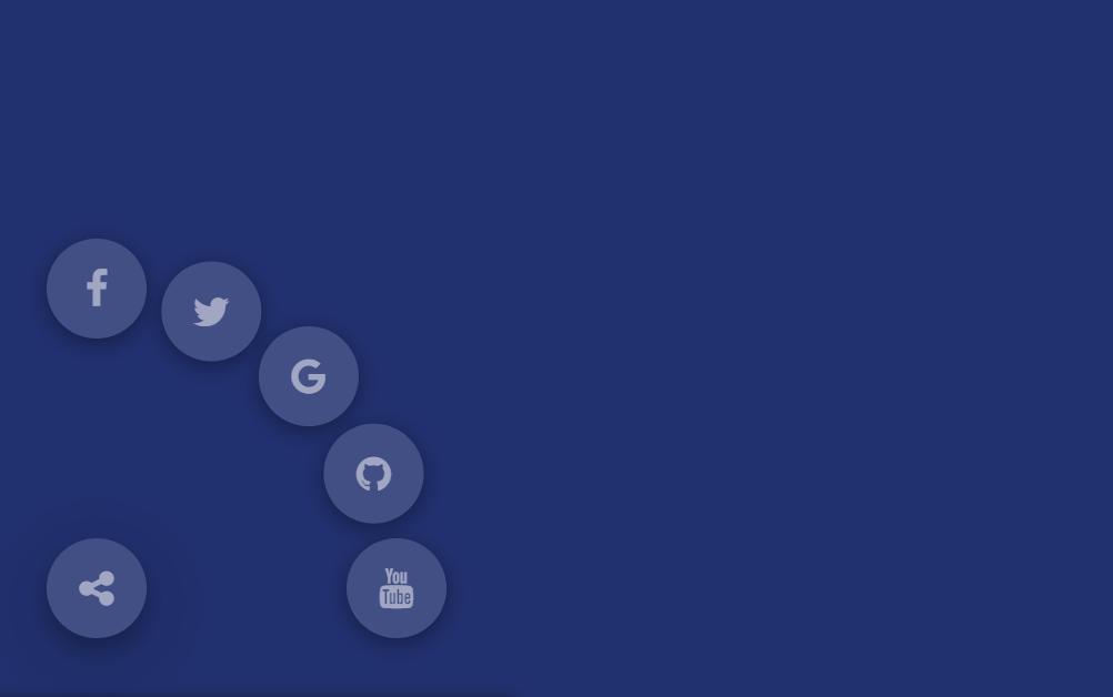 Simple Circle Social Share Mobile Menu