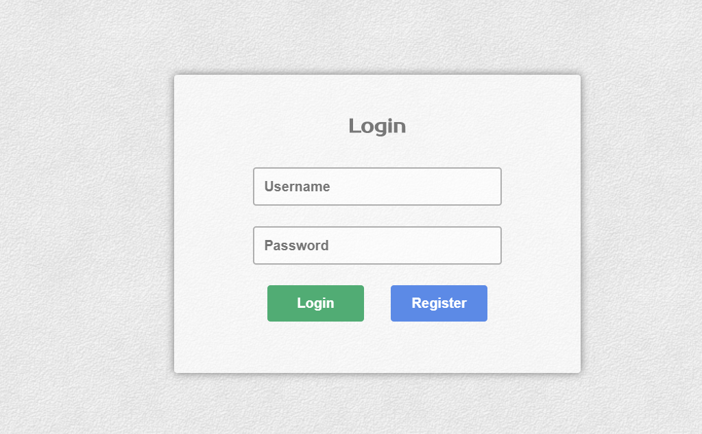 Simple Clean HTML And CSS Login Form