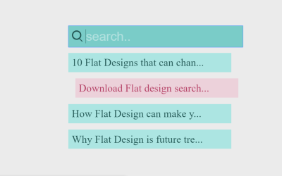 Simple Suggestion Search Box with Pure CSS
