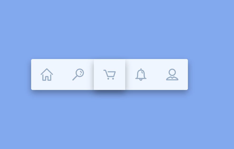 Simple SVG Icon Navigation Menu Bar Flex Box Shadows