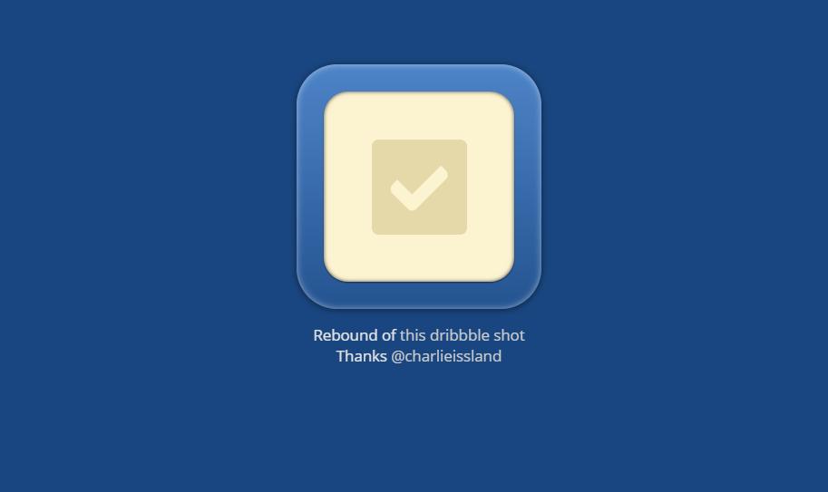 Survey Rebound CSS Checkbox Simple Design