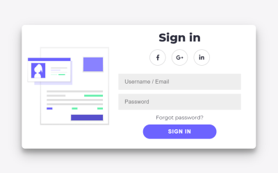 Two Section HTML And CSS Login Form Design