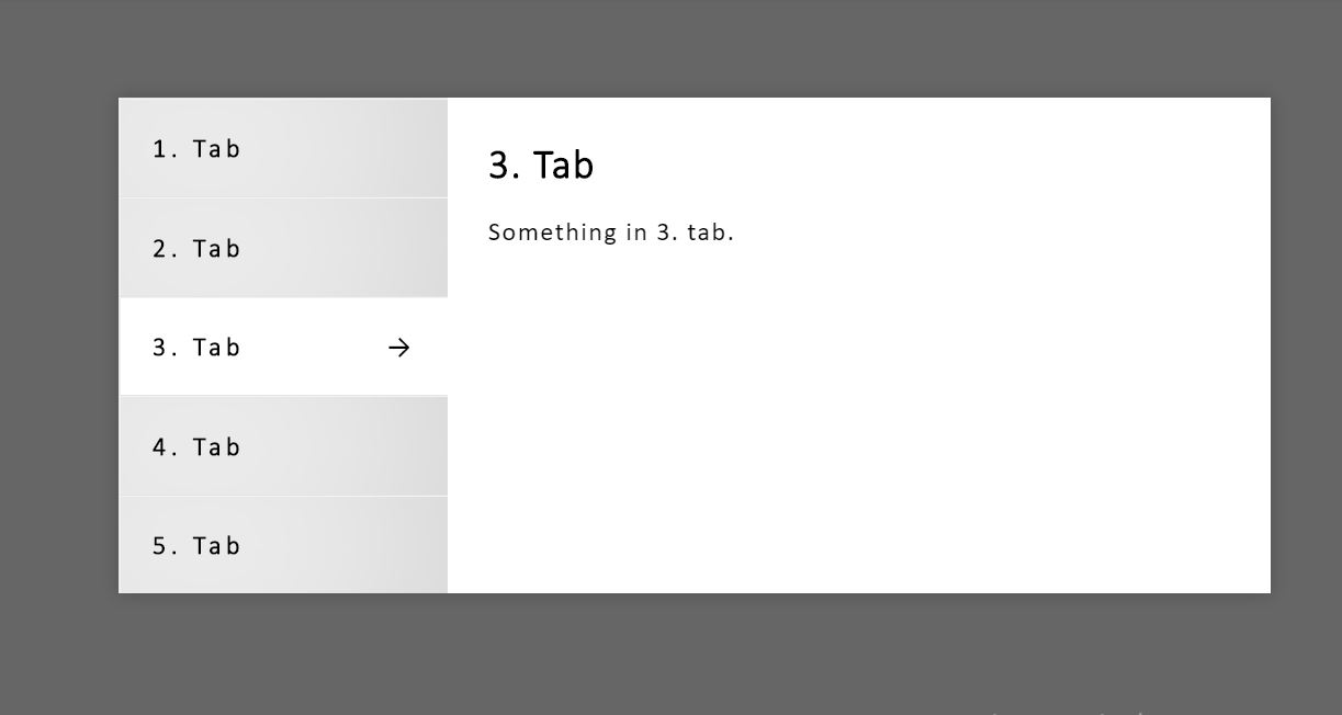Vertical Clickable HTML CSS Menu