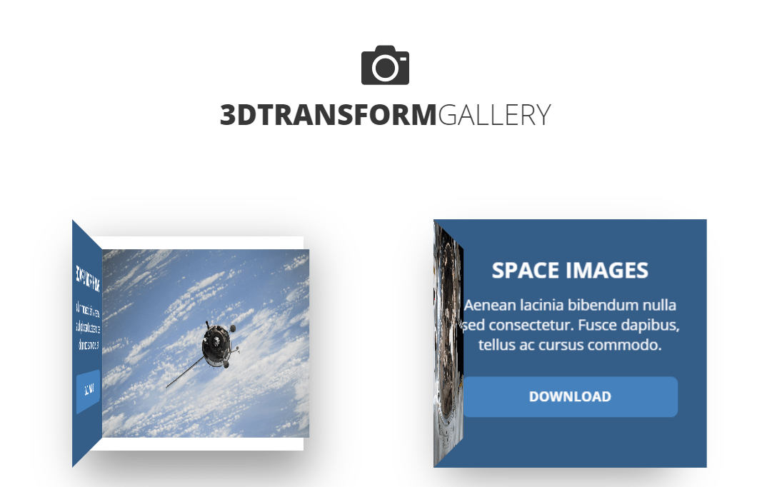 3D Transform Photo Gallery Awesome Example