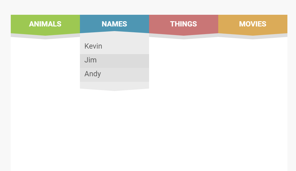 Animated Dropdown CSS Wave Effect Menu