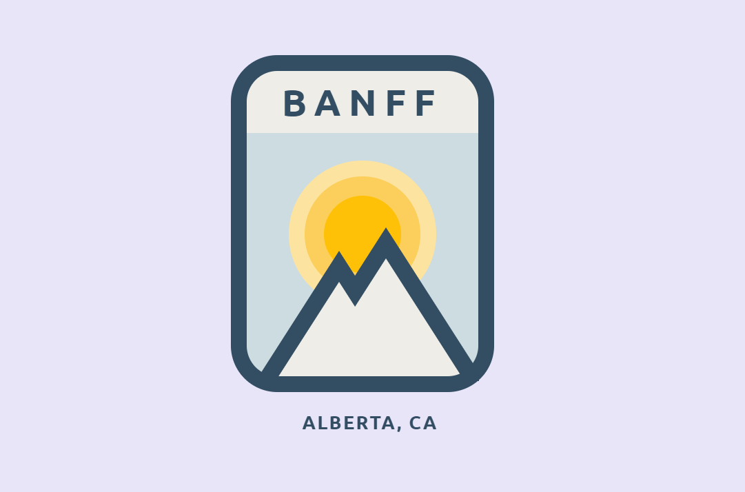 Animated HTML CSS Banff Badge Design