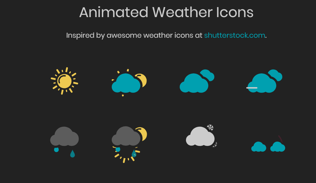 Animated Weather Icons Pure CSS