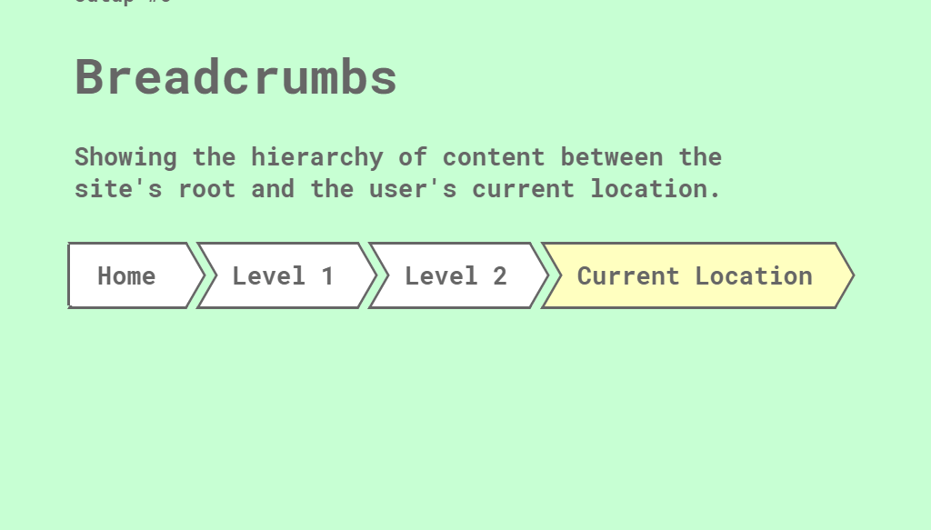 Breadcrumbs Page Navigation Bar with CSS