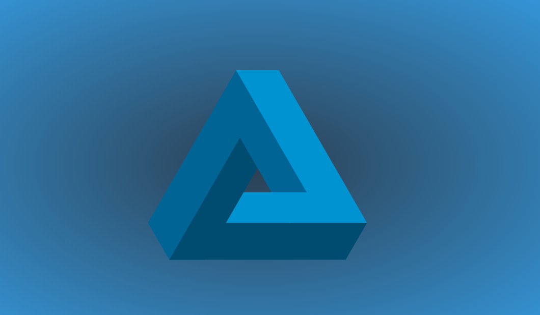 CSS Awesome Penrose Triangle Design