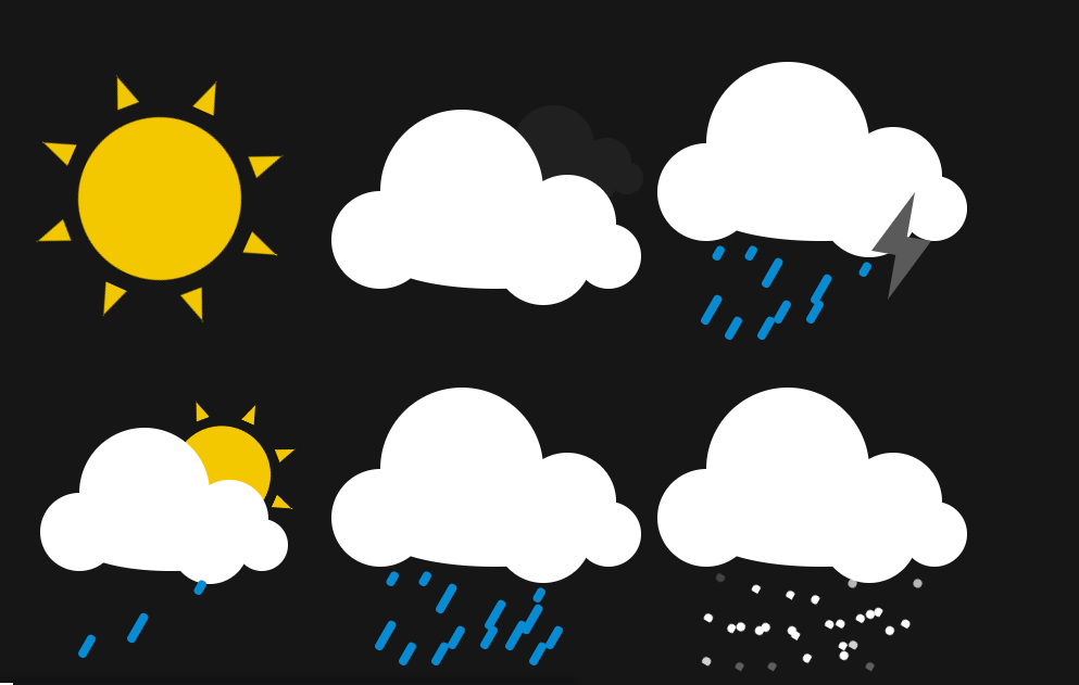 CSS Flat Animated Weather Icons Code Snippet