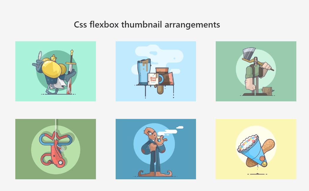 CSS Flexbox Thumbnail Examples
