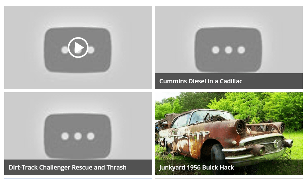 CSS Flexbox YouTube Thumbnail Grid Snippet