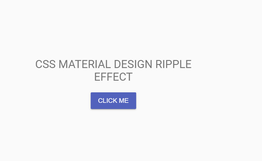 CSS Material Design Button Click Ripple Effect
