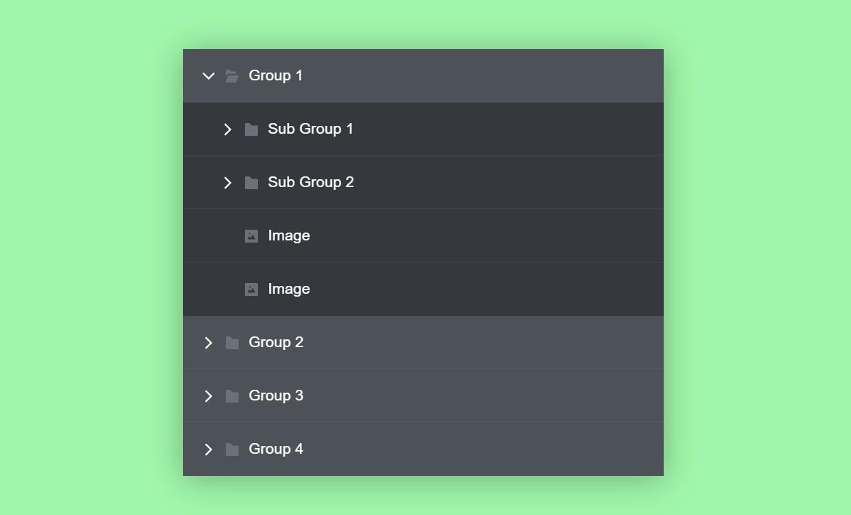 CSS Multi-level Accordion Menu Code Snippet