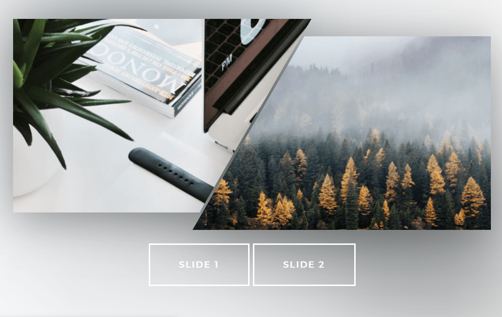 CSS Only Responsive Image Slider SVG Patterns