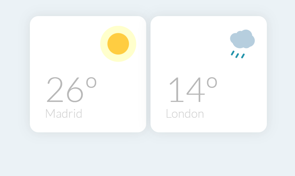 CSS Only Weather Widgets Frontend Design