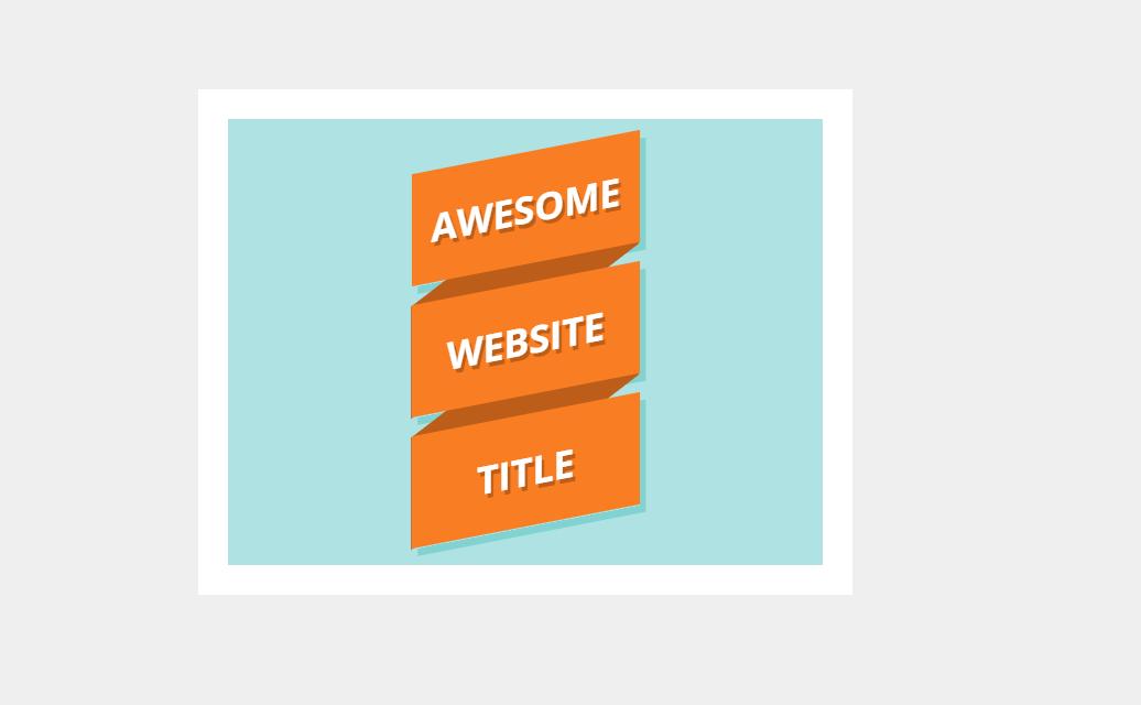 CSS Orange Color Ribbon Logo Concept