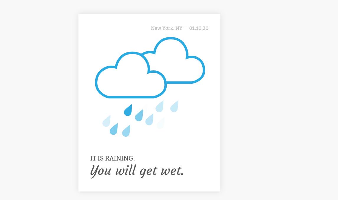 CSS SVG Weather Widget Raining