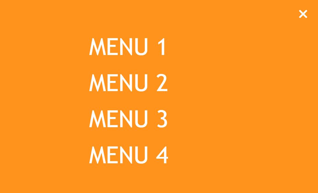 CSS3 Menu FullScreen Transitions Effects