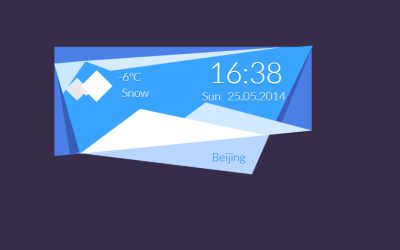 CSS3 Weather Widget Box Code Snippet