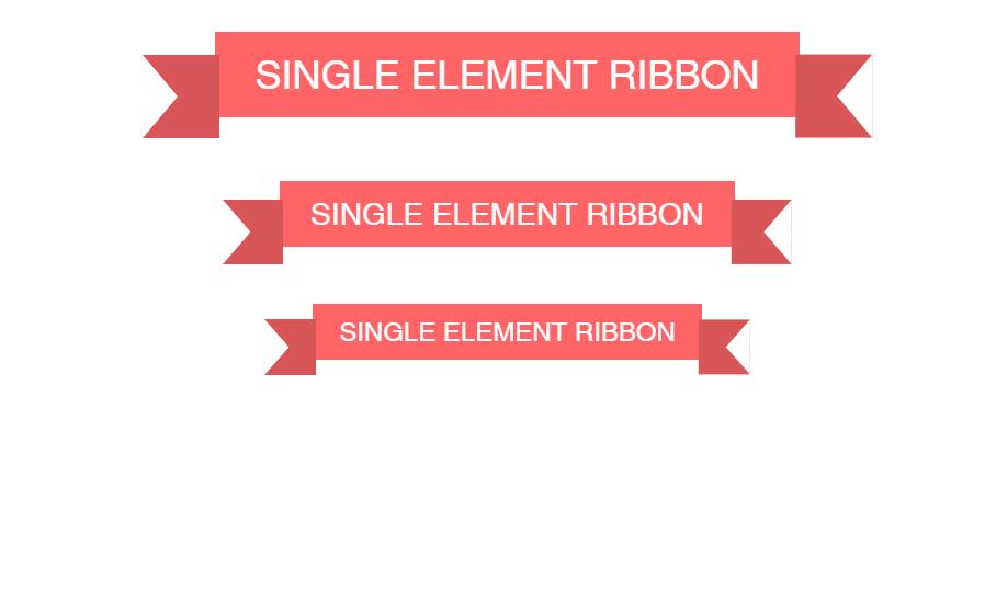 Full HTML CSS Single Element Ribbon Design