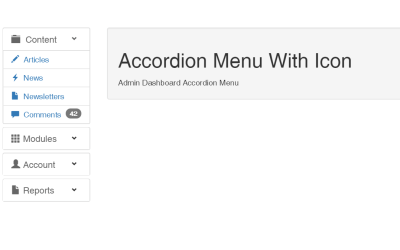 HTML CSS Accordion Menu With Icon
