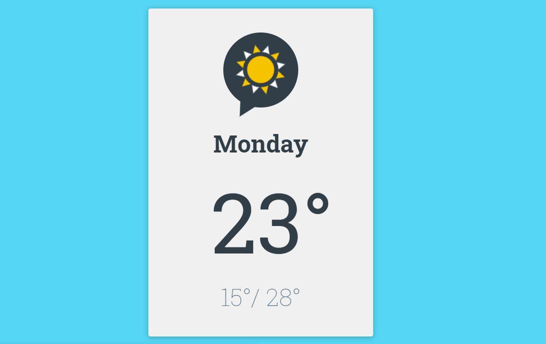 HTML CSS Design Weather Icon Animation