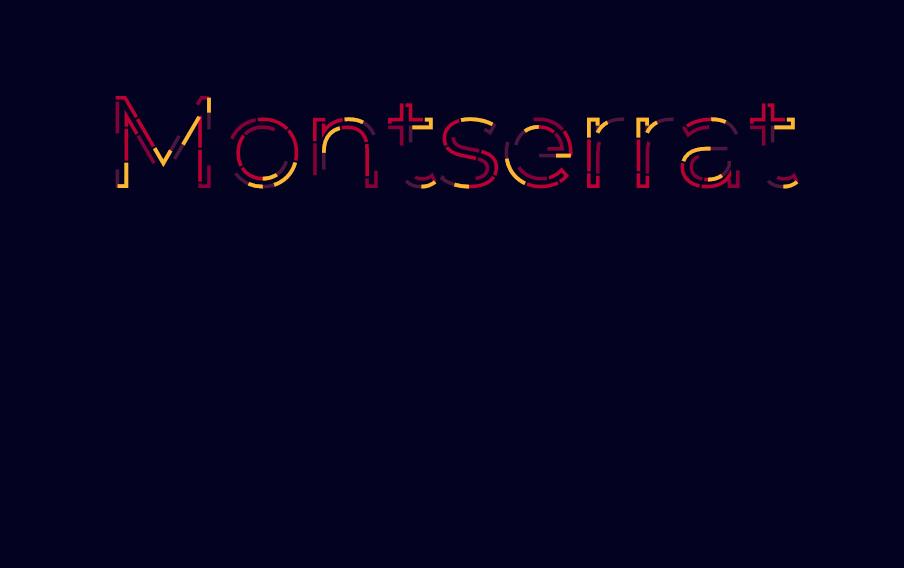 Montserrat HTML CSS Web Text Animations